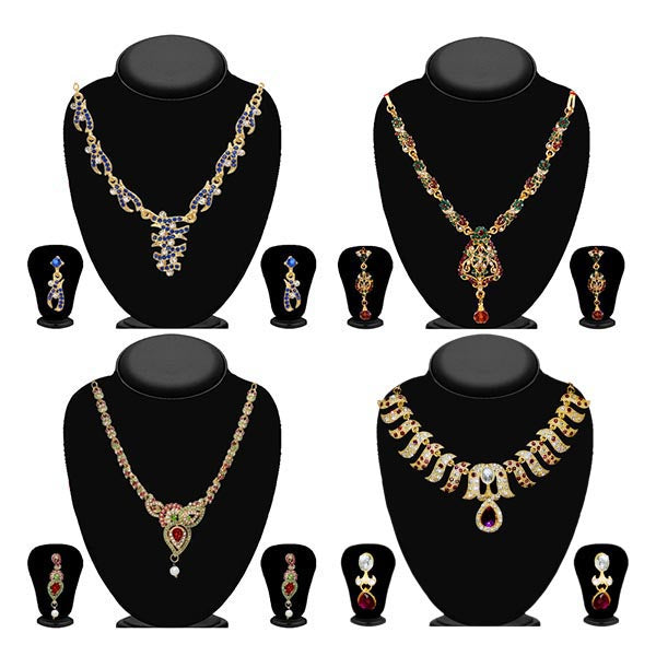 14Fashions Set Of 4 Necklace Combo