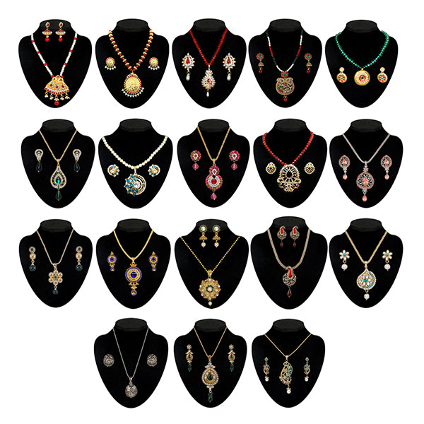 14Fashions Set Of 18 Necklace Combo