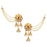 Kriaa Austrian Stone Gold Plated Pearl Kan Chain Earrings