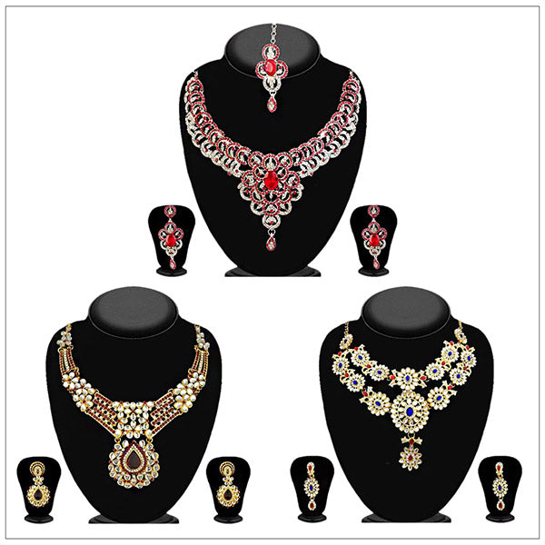 14 Fashions Set Of 3 Necklace Combo