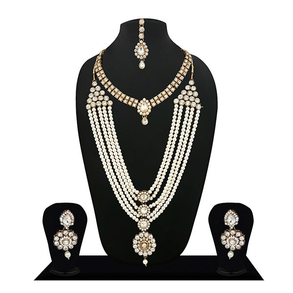 14Fashions Pearl Crystal Stone Bridal Jewellery