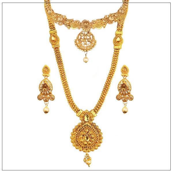 14Fashions Gold Plated Bridal Jewellery - 1003647-CL