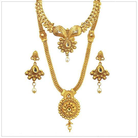 14Fashions Gold Plated Bridal Jewellery - 1003648-CL