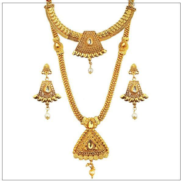 14Fashions Gold Plated Bridal Jewellery - 1003650-CL
