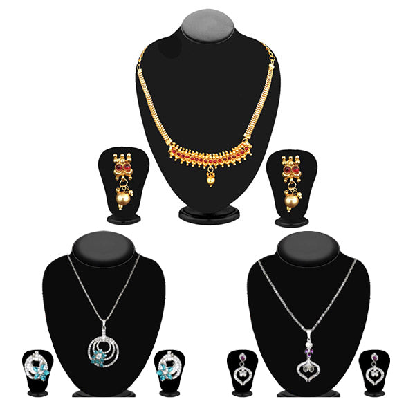 14Fashions Set of 3 Jewellery Combo - 1003687 -ES