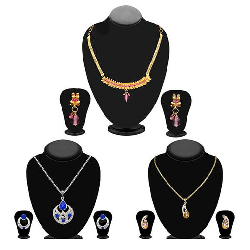 14Fashions Set of 3 Jewellery Combo - 1003688 -ES