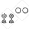 14Fashions Set of 2 Earrings Combo - 1003835