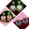 Native Haat Set of 3 Meenakari Earrings Combo