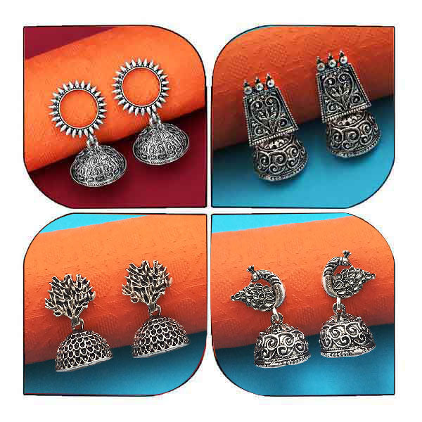 Native Haat  Set of 4 Earrings Combo - N1004004