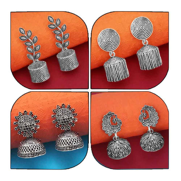 14Fashions Set of 4 Earrings Combo - 1004005