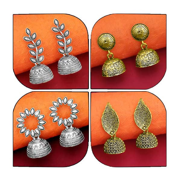 Native Haat Set of 4 Earrings Combo - N1004006