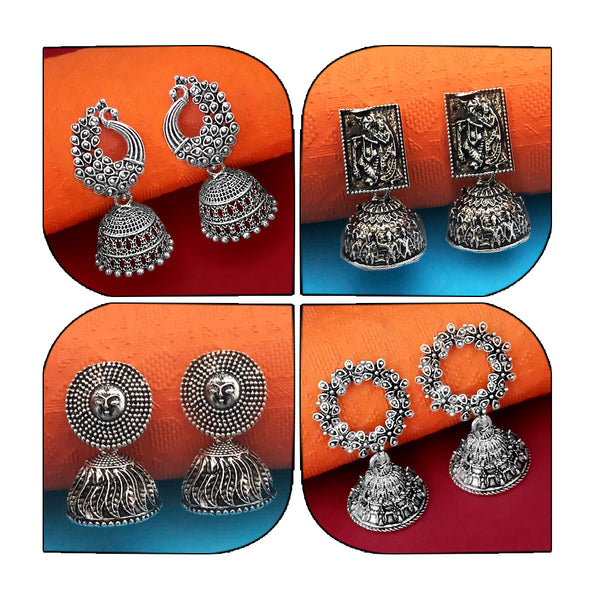 14Fashions Set of 4 Earrings Combo - 1004007