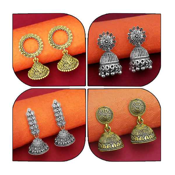 14Fashions Set of 4 Earrings Combo - 1004008