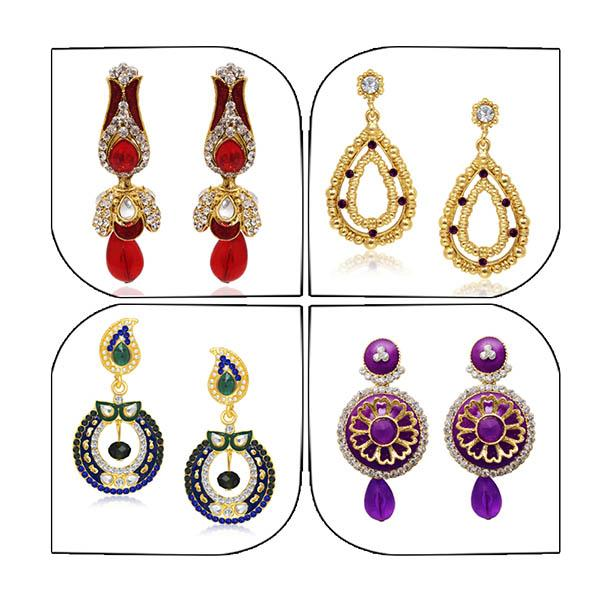 14Fashions Set of 4 Earrings Combo - 1004018
