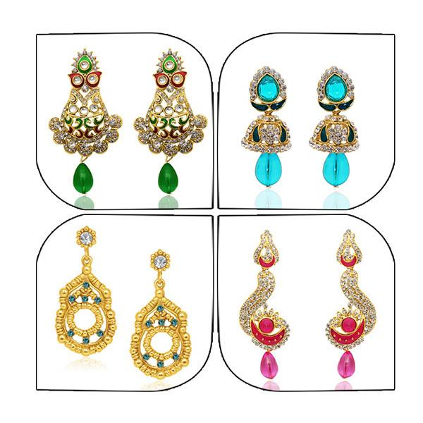 14Fashions Set of 4 Earrings Combo - 1004019
