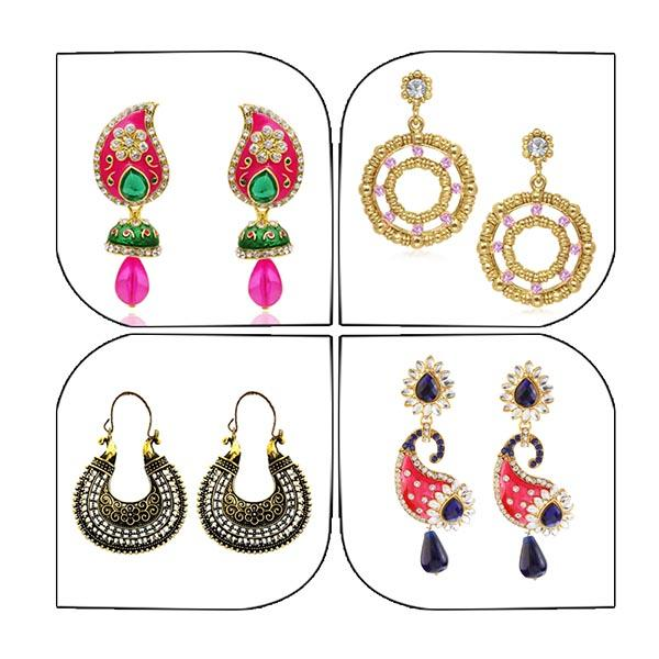 14Fashions Set of 4 Earrings Combo - 1004021