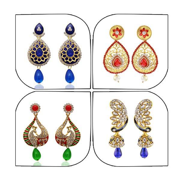 14Fashions Set of 4 Earrings Combo - 1004024