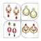 14Fashions Set of 4 Earrings Combo - 1004025