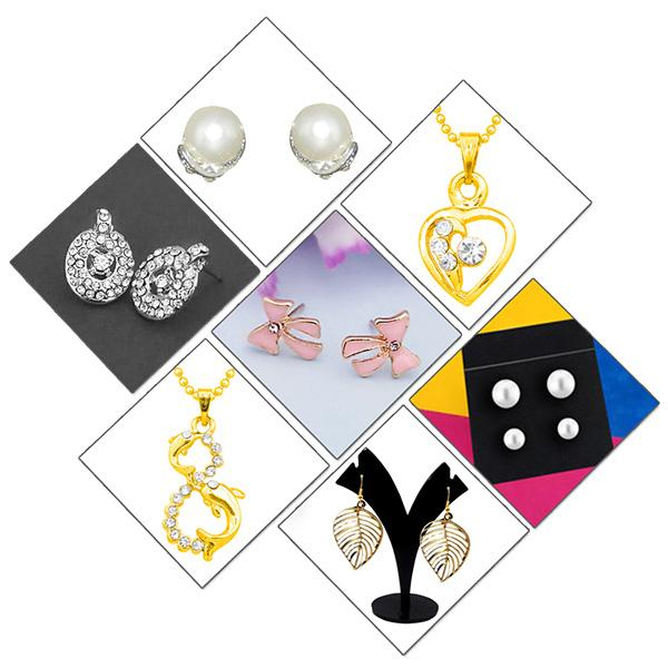 14Fashions Set of 7 Jewellery Combo - 1004030