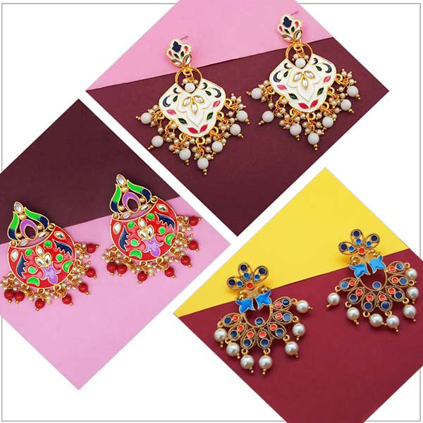 14Fashions Set of 3 Earrings Combo - 1004029