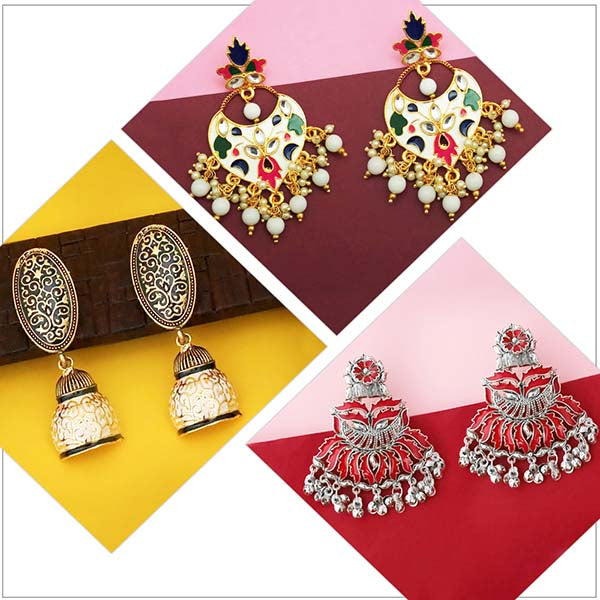 14Fashions Set of 3 Earrings Combo - 1004050