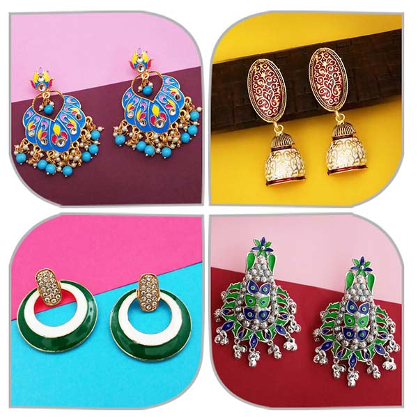 14Fashions Set of 4 Earrings Combo - 1004053