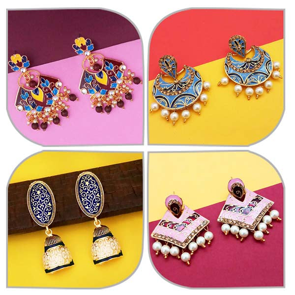 14Fashions Set of 4 Earrings Combo - 1004056