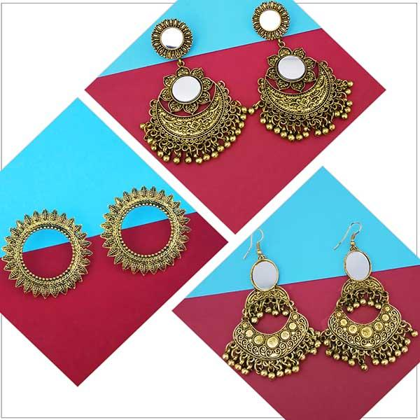 14Fashions Set of 3 Earrings Combo - 1004061