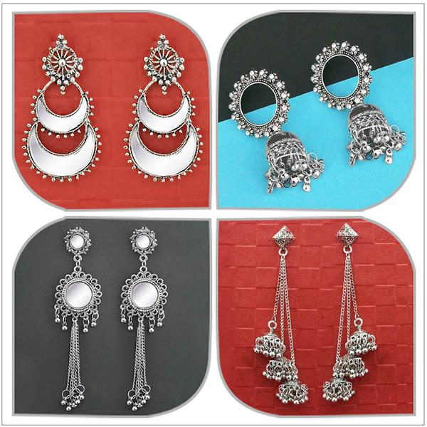 14Fashions Set of 4 Earrings Combo - 1004063