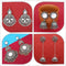 14Fashions Set of 4 Earrings Combo - 1004065