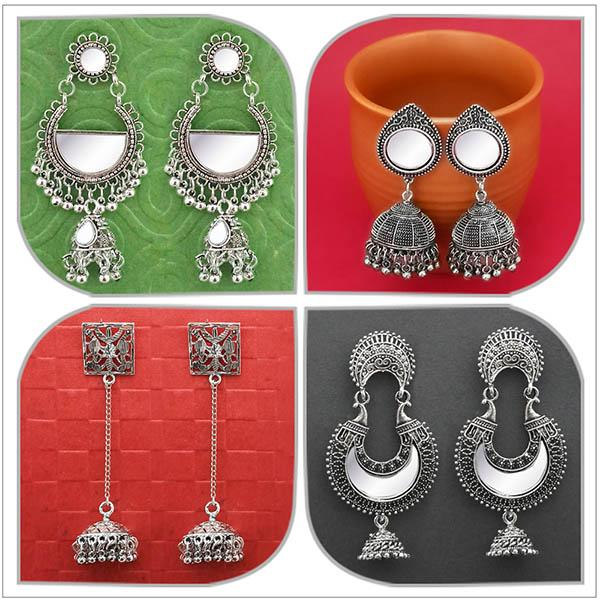 14Fashions Set of 4 Earrings Combo - 1004066
