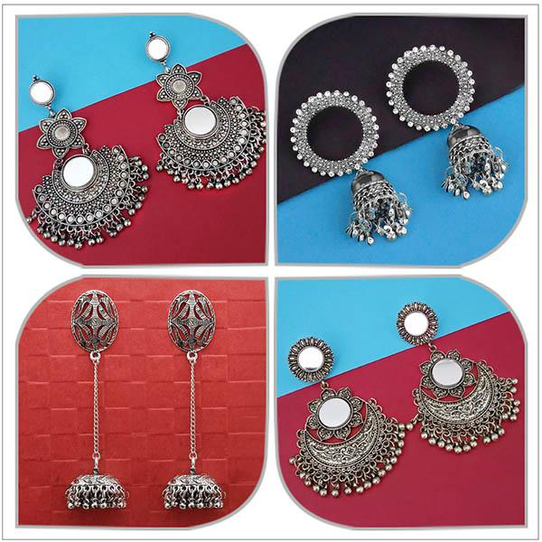 14Fashions Set of 4 Earrings Combo - 1004067