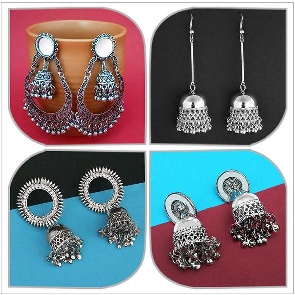 14Fashions Set of 4 Earrings Combo - 1004068