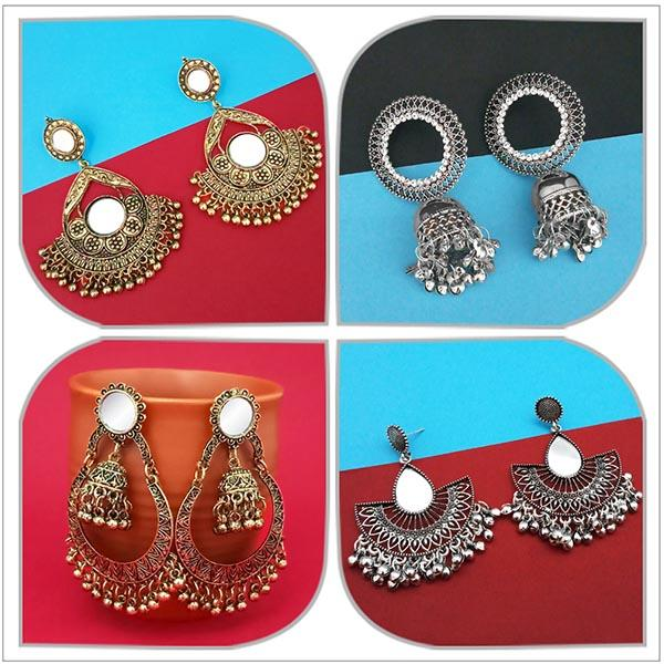 14Fashions Set of 4 Earrings Combo - 1004069