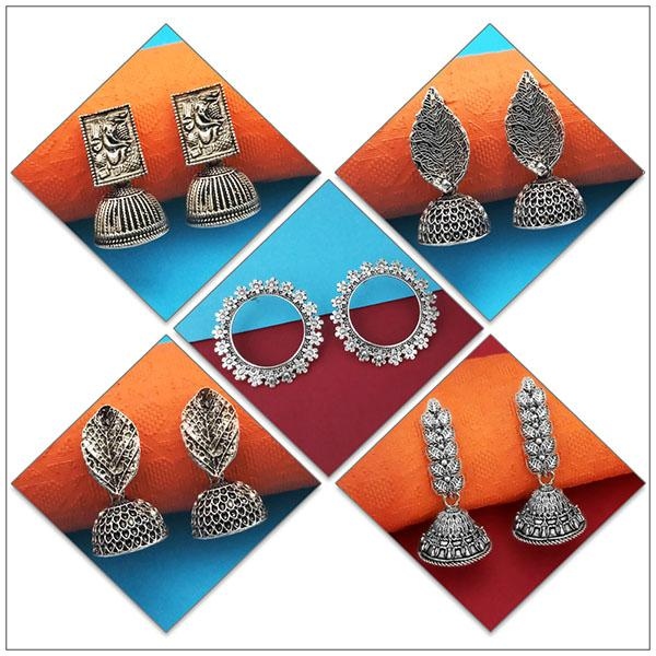 14Fashions Set of 5 Earrings Combo - 1004074