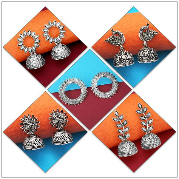 14Fashions Set of 5 Earrings Combo - 1004075