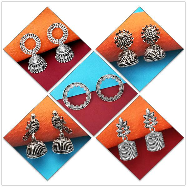 14Fashions Set of 5 Earrings Combo - 1004077