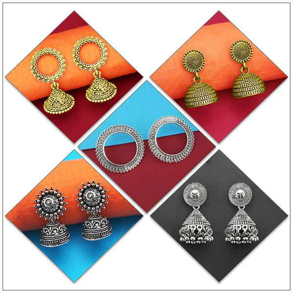 14Fashions Set of 5 Earrings Combo - 1004078