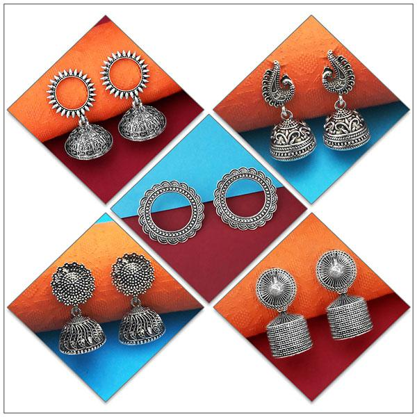 14Fashions Set of 5 Earrings Combo - 1004080