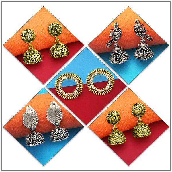 14Fashions Set of 5 Earrings Combo - 1004082