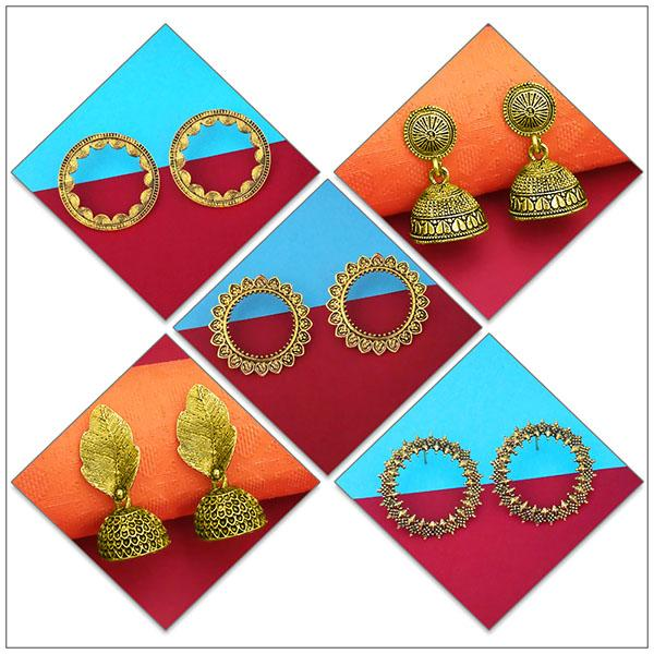 14Fashions Set of 5 Earrings Combo - 1004083