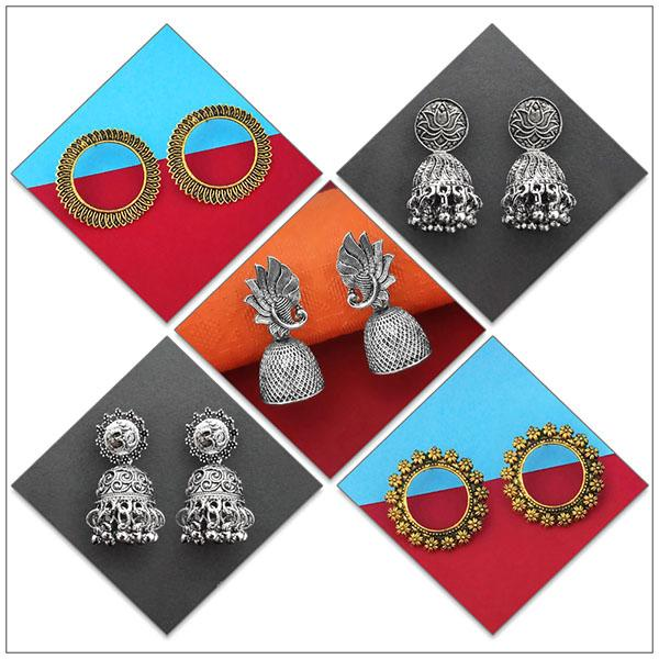 14Fashions Set of 5 Earrings Combo - 1004084