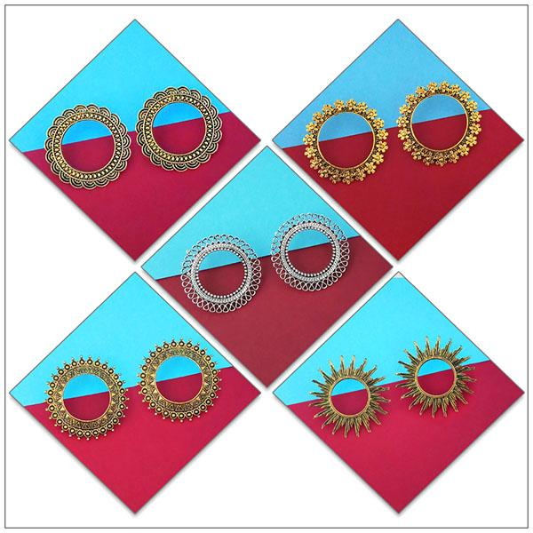 14Fashions Set of 5 Earrings Combo - 1004085
