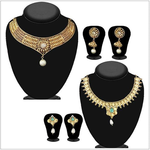 14Fashions Set of 2 Necklace Combo  - 1004100