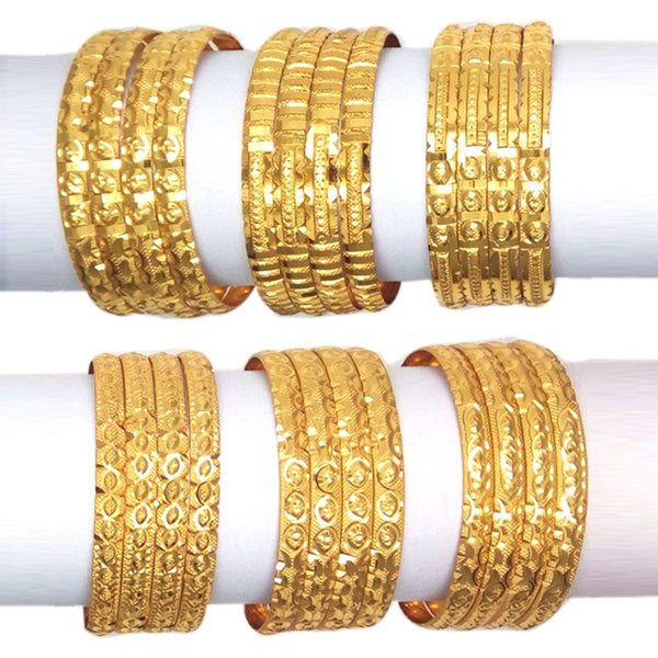 Allwell Traditional Fancy Gold Plated Bangles Combo