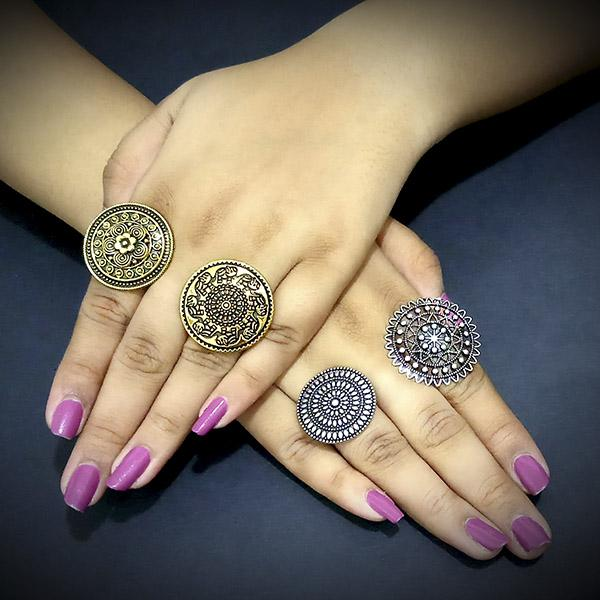 14Fashions Set of 4 Rings Combo - 1004189