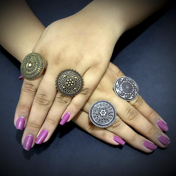 14Fashions Set of 4 Rings Combo - 1004190