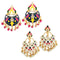 Native Haat Set of 2 Earrings Combo - 1004228