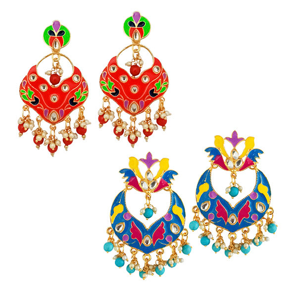 Native Haat Set of 2 Earrings Combo - N1004230