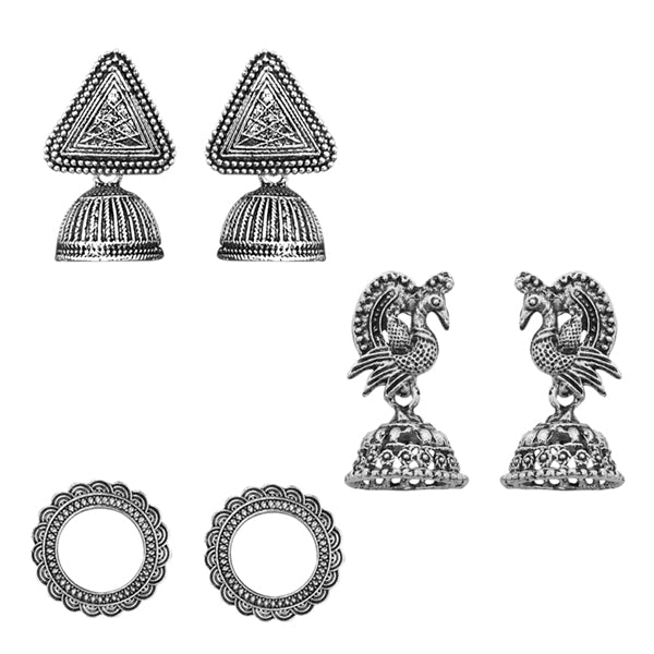 Native Haat Set of 3 Earrings Combo - N1004233